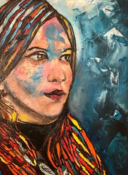 """The Girl"" (oil, canvas, palette knife) by Tatiana Degtyareva"