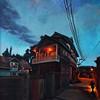 """""""Sundown, Kashmir"""" (acrylic on canvas) by Rajat Kumar"""