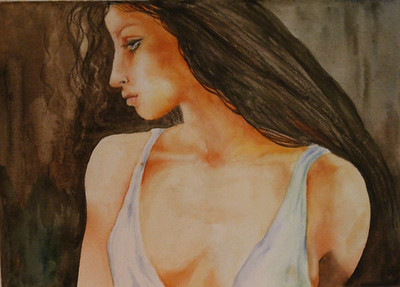 """JulieBlue"" (watercolor) by Sherry Lupo"