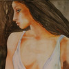 """""""JulieBlue"""" (watercolor) by Sherry Lupo"""