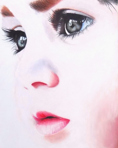 """Innocence"" (oil pastel) by Anette Godfrey"