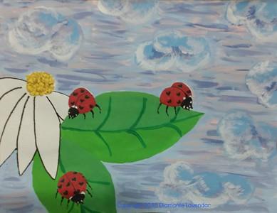 """Love Bugs"" (acrylic) by Diamante Lavendar"