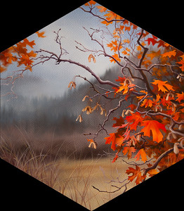 """Fiddlers Hollow"" (oil and ink on panel) by Zephyr Greyhaven"