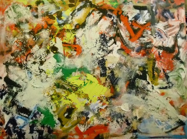 """""""I Knew You Were Going To Say That"""" (acrylic on canvas) by Russell Osmianski"""