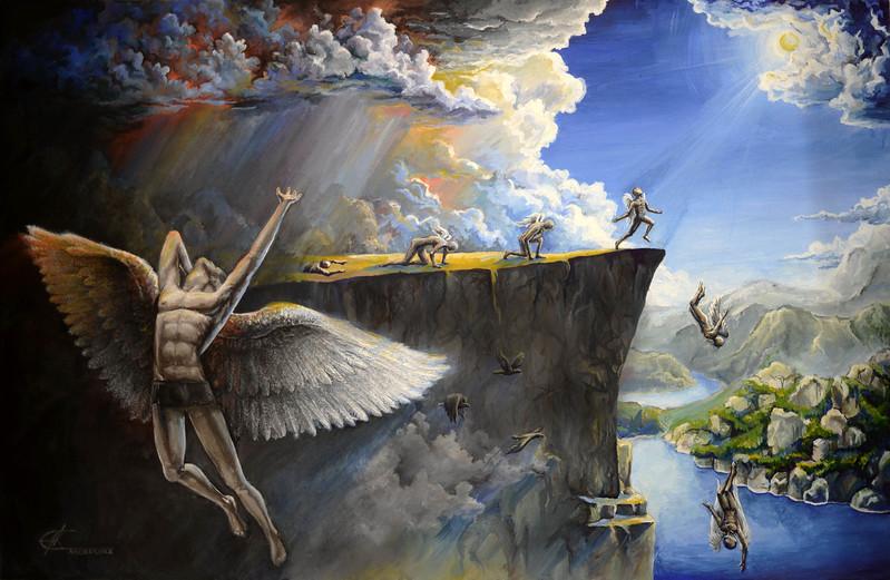 """""""Freedom"""" (tempera on canvas) by Andreeva Ekaterina"""