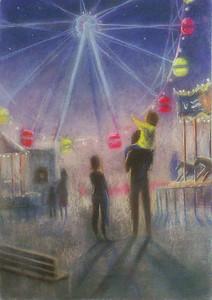 """""""Мerry-go-round"""" (pastel) by Eugenia Erokhina"""