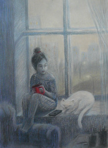 """The world inside"" (pastel) by Eugenia Erokhina"