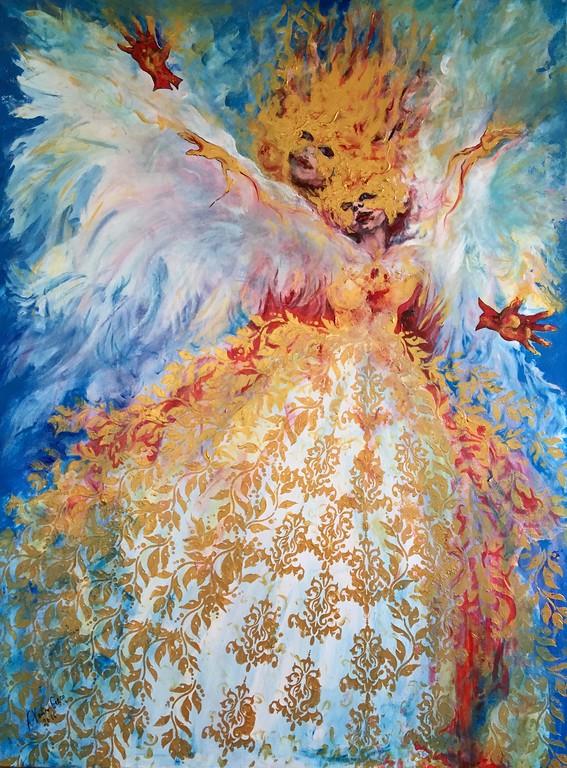 """Fuoco Di Venezia"" (acrylic on canvas) by Katya Greco"