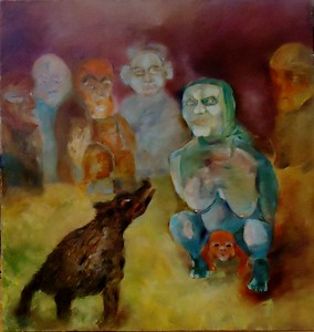"""Birth of a leader"" (mixed media) by Veronika Albu - Kanti"