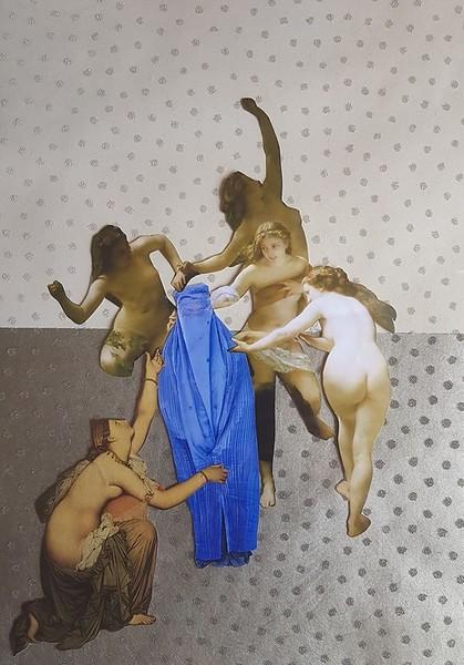"""Back to Sisterhood"" (handcut collage) by Silvia Burli"