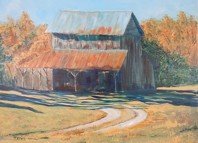 """Rustic Barn"" (acrylic) by Joy Parks Coats"