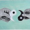 """Ying to my Yang"" (charcoal and pastel) by Karin Katz"