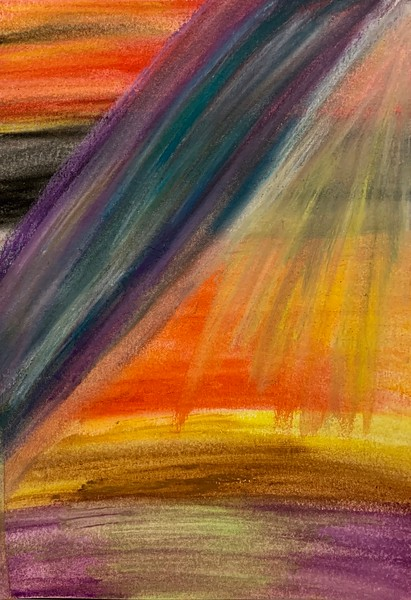 """""""Storm Clearing"""" (pastel) by Aarathi Haig"""