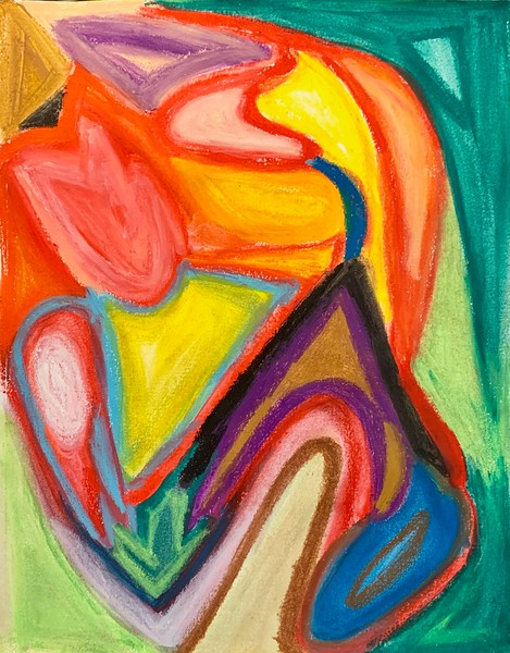 """Decompression"" (pastel) by Aarathi Haig"