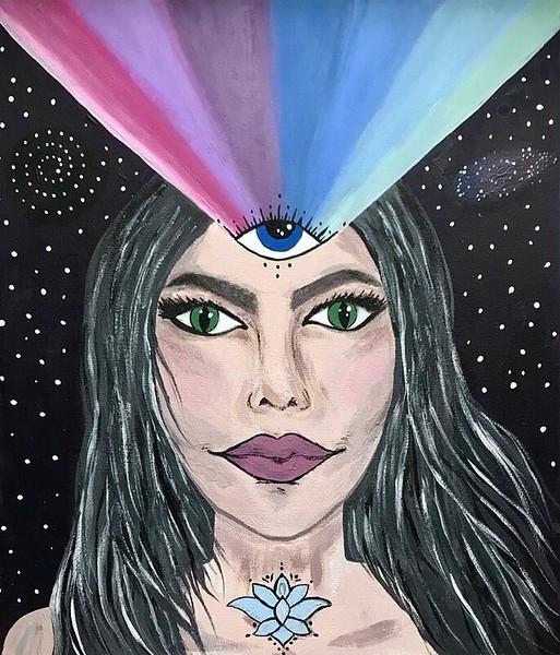 """""""Insight"""" (acrylic on canvas) by Evgeniya Gol"""