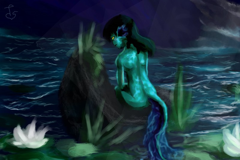 """Water Fairy"" (digital painting) by Talon Rufener"