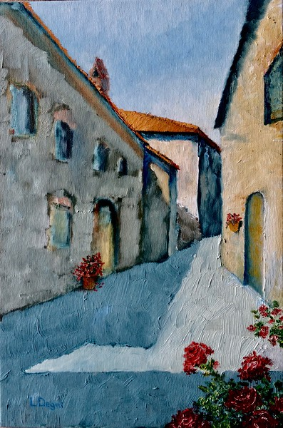 """""""The Red Roses of Parrano"""" (oil on canvas) by Louis Degni"""