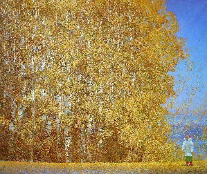 """Childhood"" (oil on canvas) by Valentina Chernykh"