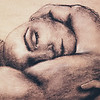 """If I Lay Here"" (charcoal on paper) by Maiya M Lonesome"