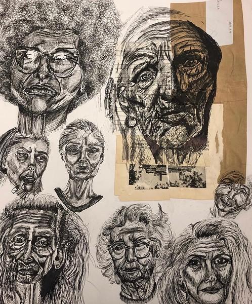 """""""Wisdom"""" (pen) by Johanna Johnson"""