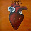 """Beating Heart"" (acrylic on canvas) by Elizabeth Narouz"