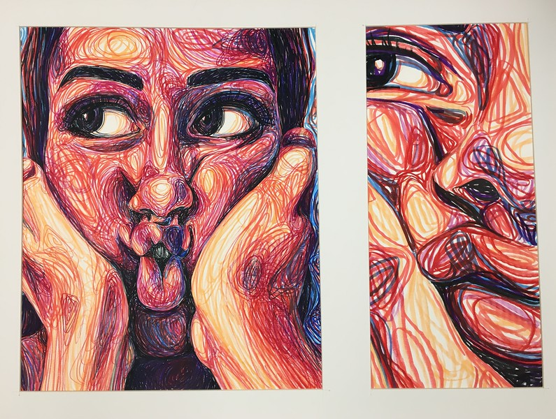 """""""Squished"""" (marker) by Victoria Stillman"""