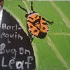 """Harlequin Bug On A Leaf"" (acrylic) by David Rubin"