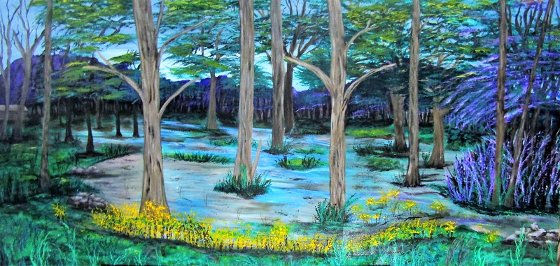 """""""Country Mornings"""" (acrylic on wood) by Shannon Barnes"""