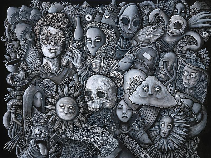 """""""Abyssal Plain"""" (acrylic on canvas) by Cyan Garma"""