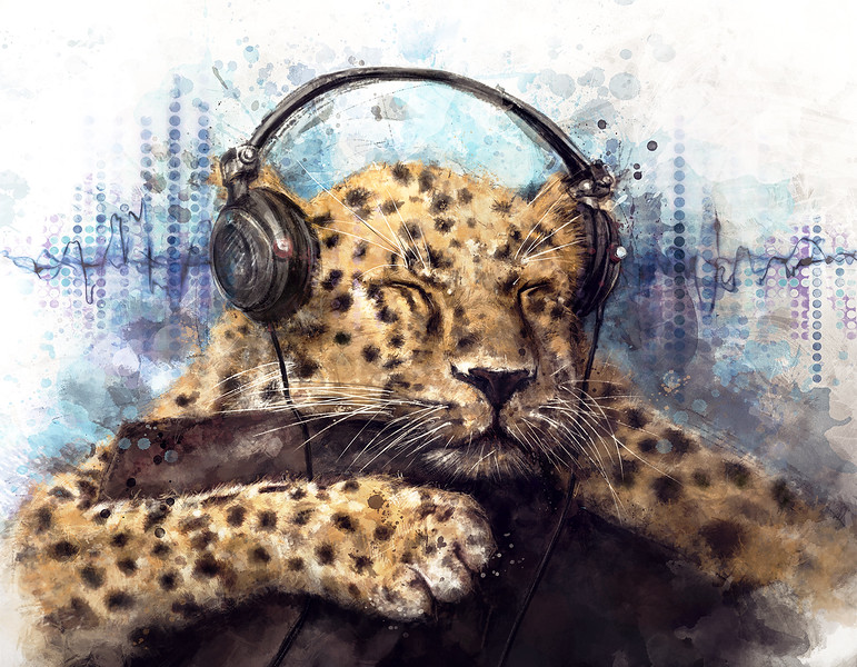 """Sounds of pleasure"" (digital painting) by Maks Novikov"