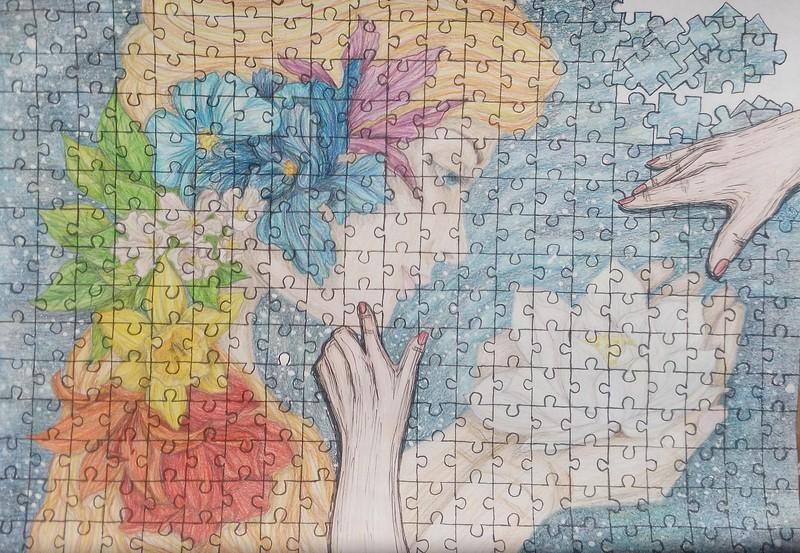 """Gathering myself..."" (ink, watercolor) by Irina Selina"