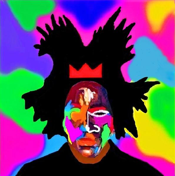 """Basquiat"" (acrylic on canvas) by Jimmy Gockel"