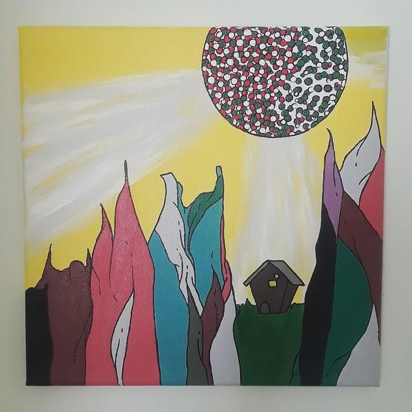 """""""Sunrise, Sunset"""" (acrylic on canvas) by Amanda Cole"""