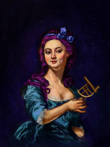 """The Astronomer"" (digital painting) by Laura Juncker"