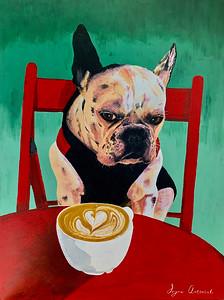 """""""French Coffee"""" (acrylic) by Iryna Antoniuk"""
