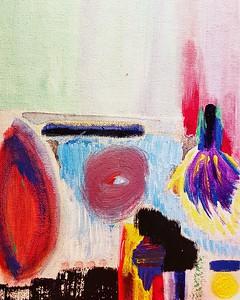 """Flapper"" (acrylic on canvas) by Sarah Morgan"