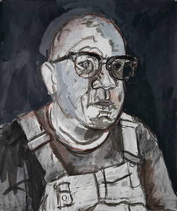 """""""My Father V"""" (charcoal, conte, ink wash, acrylic) by Sam Kelly"""