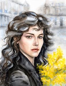 """Margarita"" (watercolor) by Lana Azore"