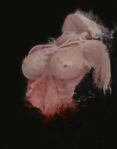 """Untitled"" (oil on canvas panel) by Yulia Grushevaya"