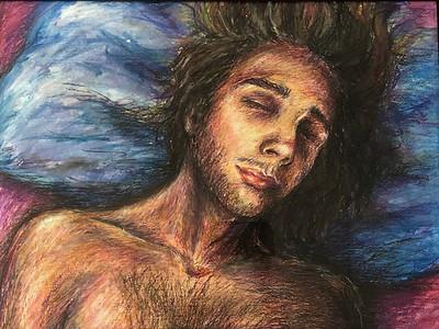 """Lucid Dreaming"" (oil pastel) by Jade Hall"