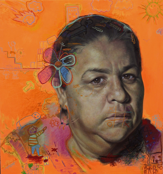 """Locrio"" (acrylic, oil pastel on canvas) by Pedro Troncoso"