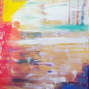 """Grandpas"" (acrylic on canvas) by Sarah Morgan"
