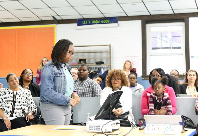 8th grader Azaria Augustine. <br /> Photo by John FItts