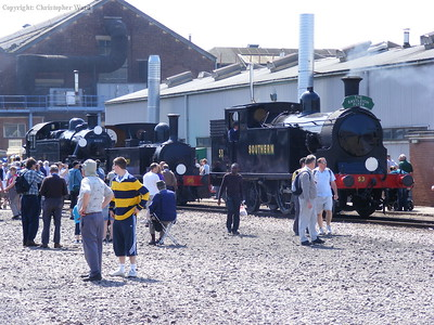 Two LSWR tanks and an interloper from Derby