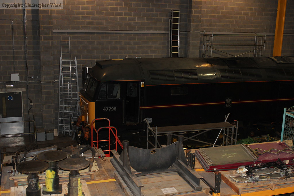 Ex-Royal locomotive 47798 Prince William in the works
