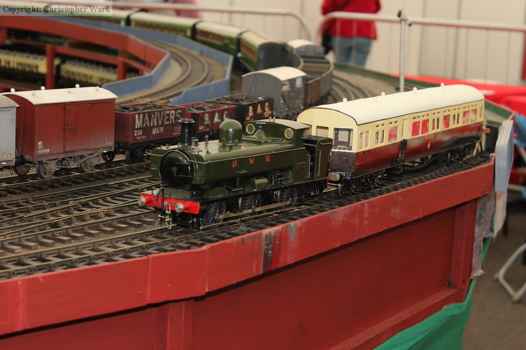 The model of a GWR autotrain with Pannier Tank