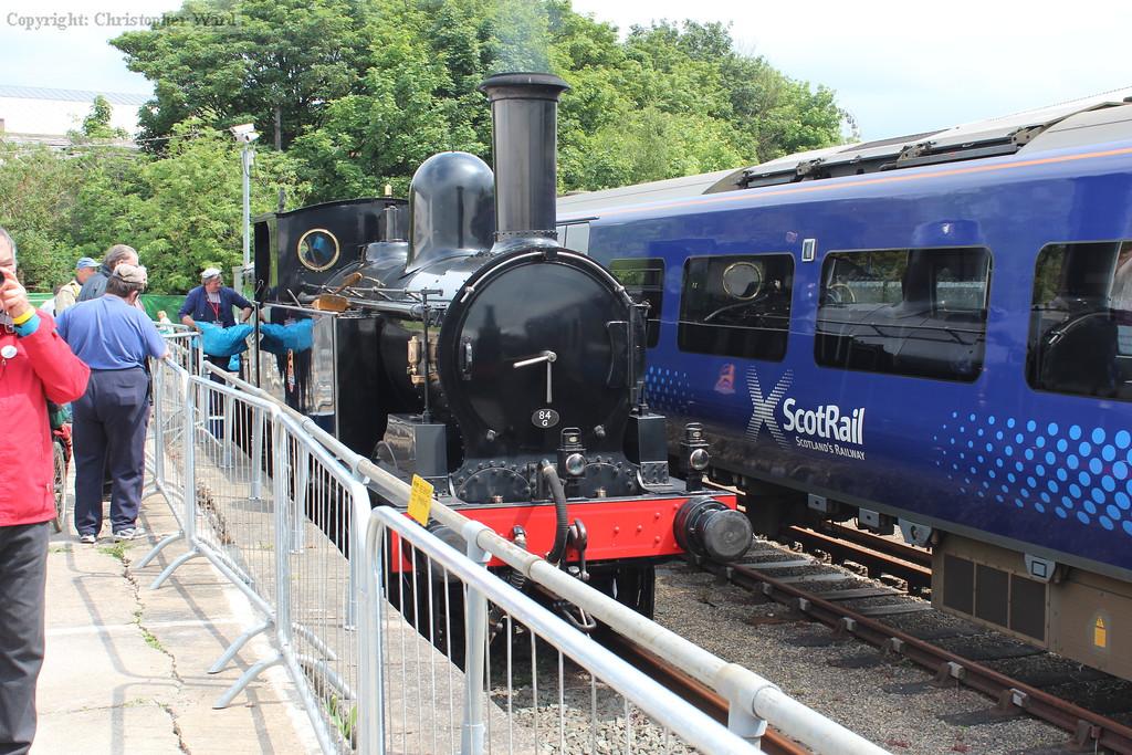 The recently restored Webb coal tank