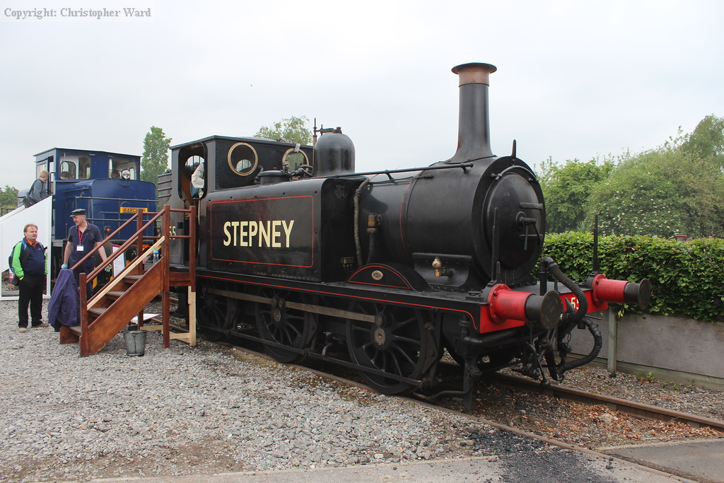 55 Stepney in pride of place at Railfest