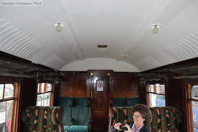 The saloon of the Belle