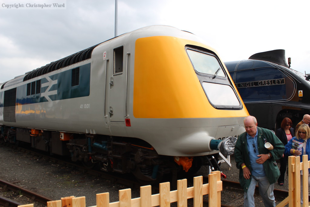 41001 after cosmetic restoration at Leeds Neville Hill depot